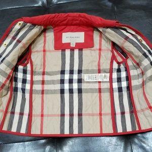 Burberry girls quilted jacket size 3Y